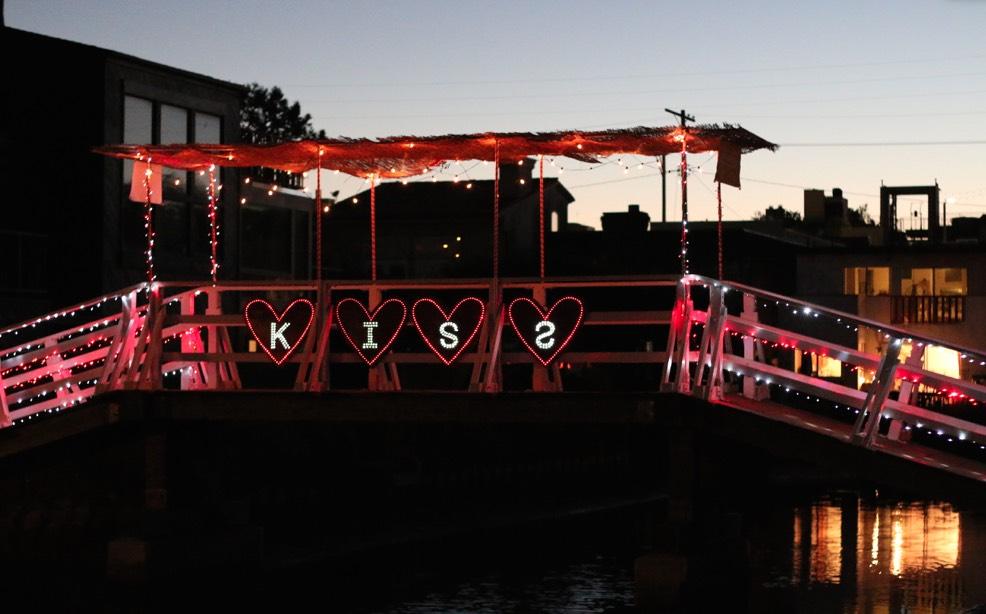 Kiss Bridge at Venice Canals