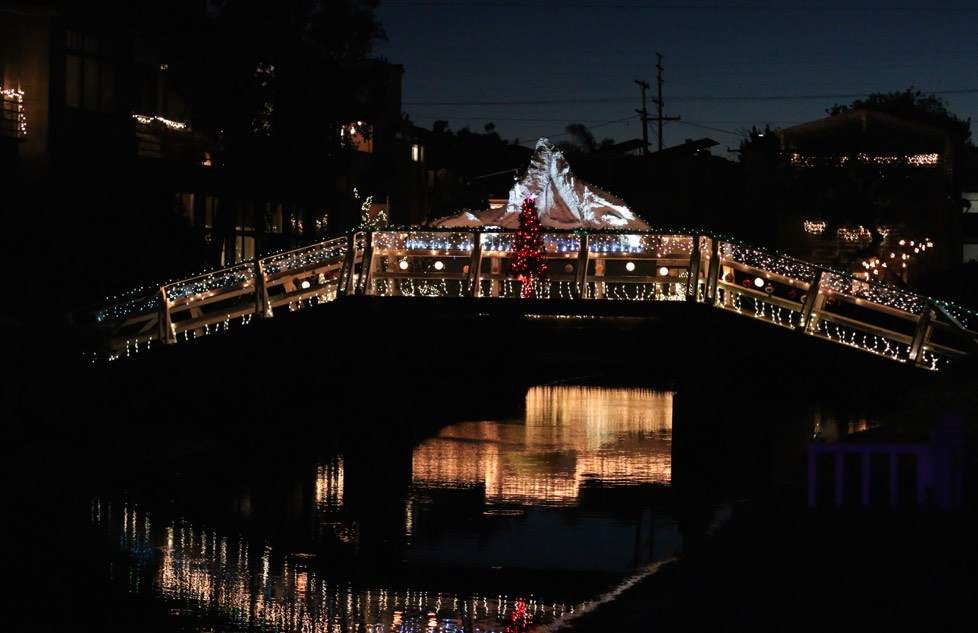 Venice Canals Holiday Bridge Lights