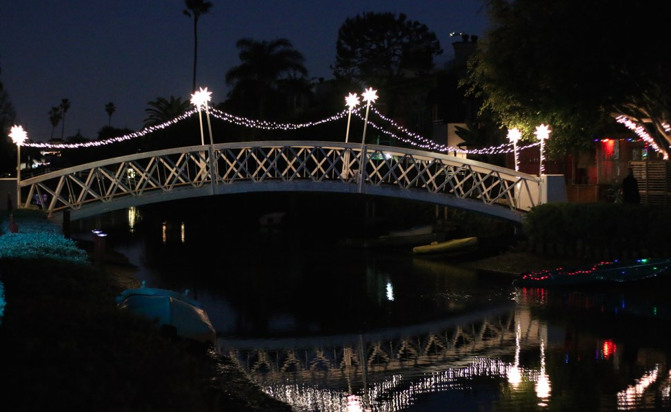 Venice Canals Crossing at Night