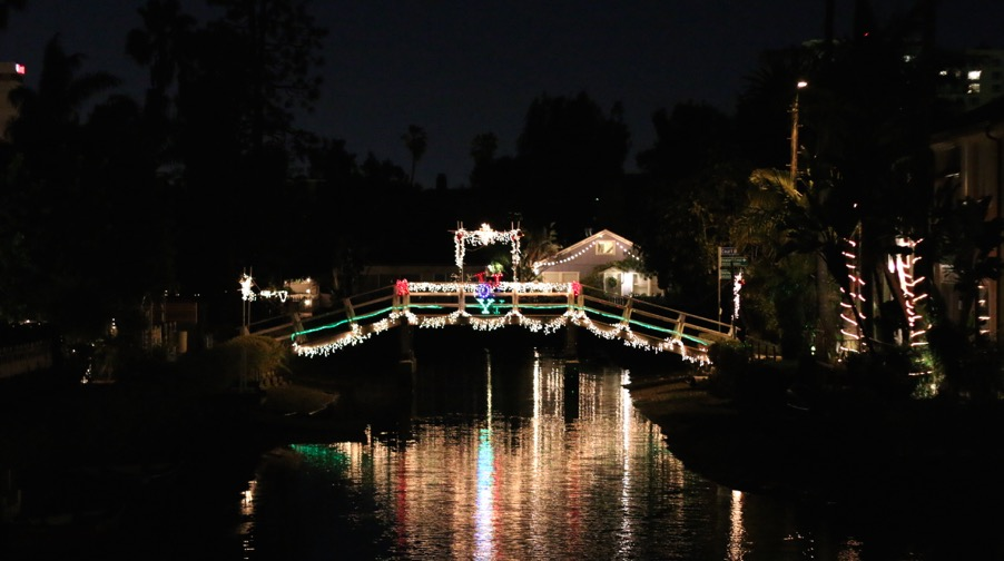 Venice Canals Lights for Holidays