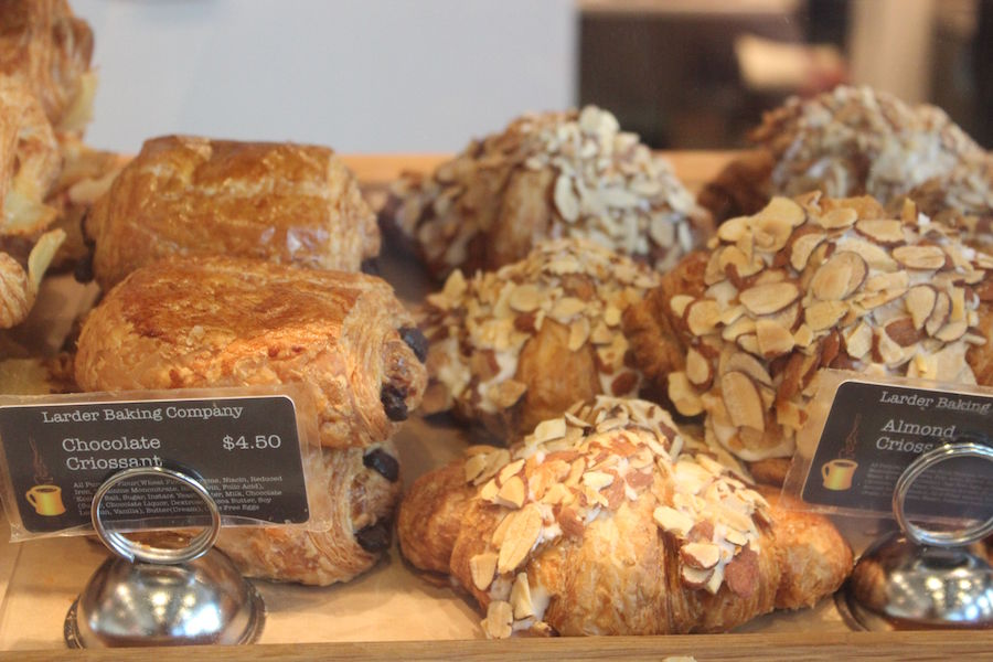 larder baking company pastries display