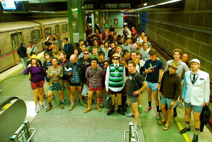 No Pants Metro Ride 2009