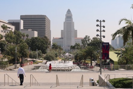 Grand Park in DTLA with City Hall