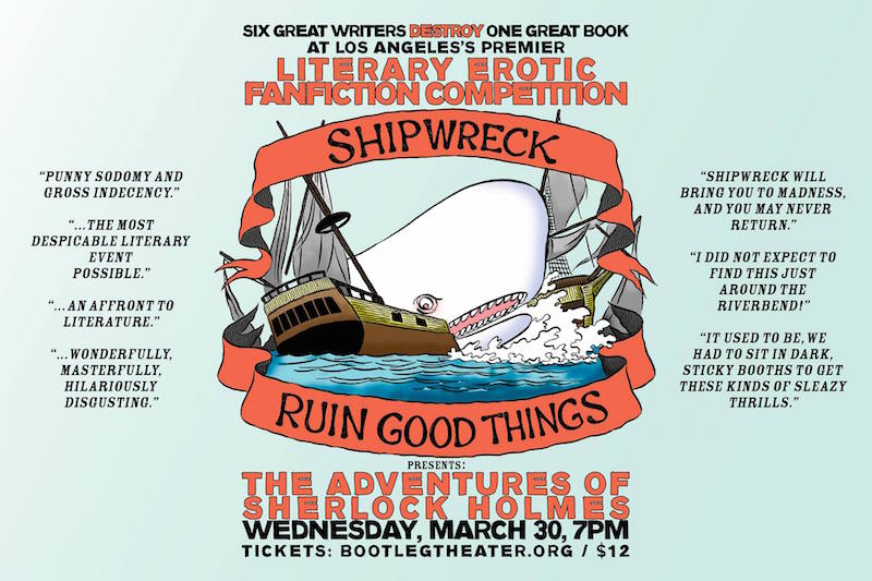 Shipwreck: Competitive Erotic Fanfiction at The Bootleg ...: http://www.welikela.com/event/shipwreck-at-bootleg-theater-3-30-2016/