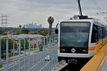 Expo Line at La Cienega Station