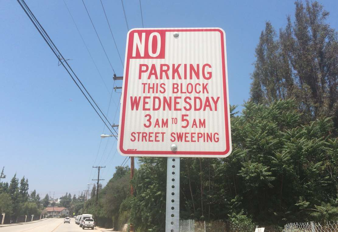 Street Sweeping Sign
