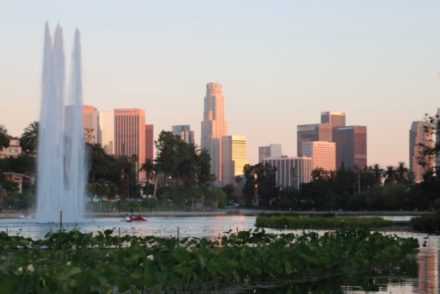Echo Park Lake at Dusk