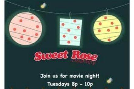 sweet rose summer cinema night