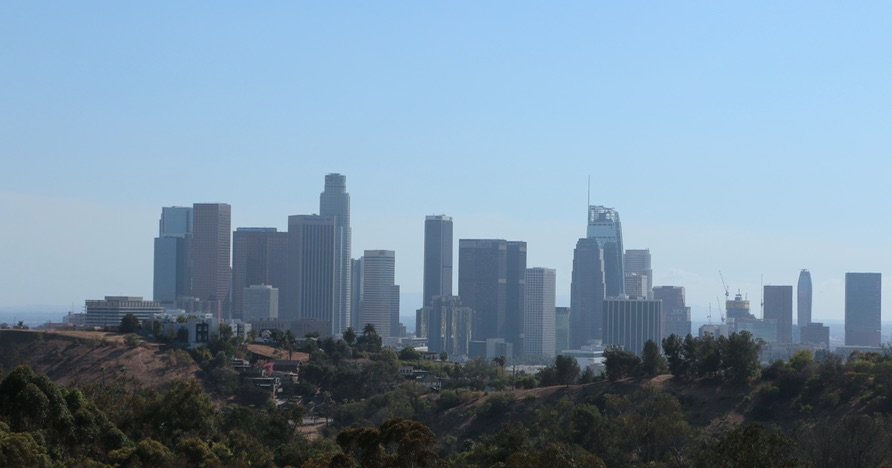 Elysian Park view of Downtown L.A>