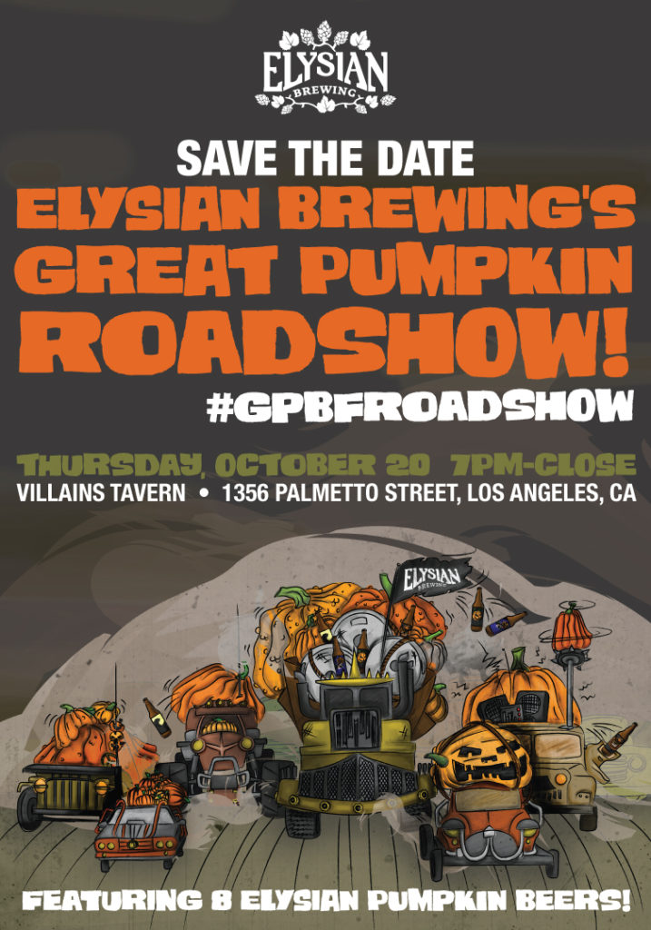 elysian brewing great pumpkin roadshow