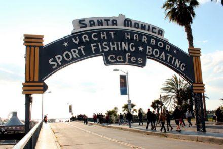 Santa Monica Pier entrance