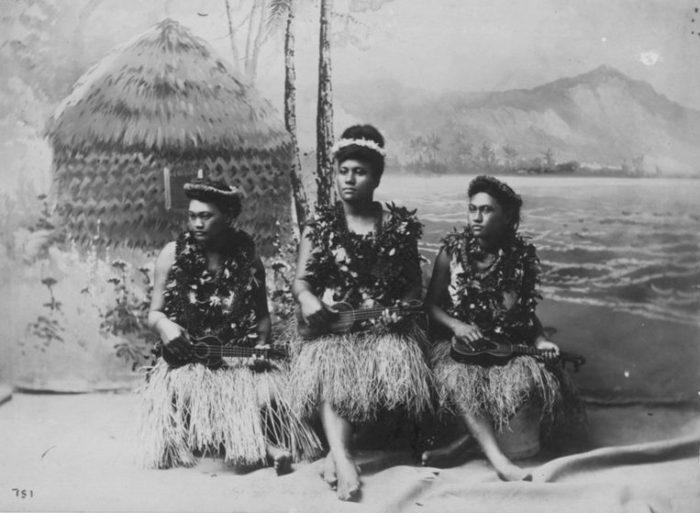 Ukulele Girls During Kalakaua's Reign