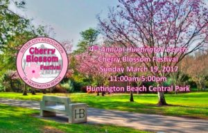 Huntington Beach Cherry Blossom Festival at Huntington Beach Central Park