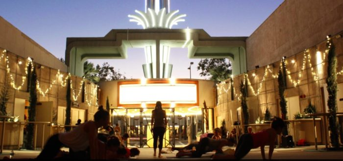 Popup Yoga at Glendale's Alex Theatre