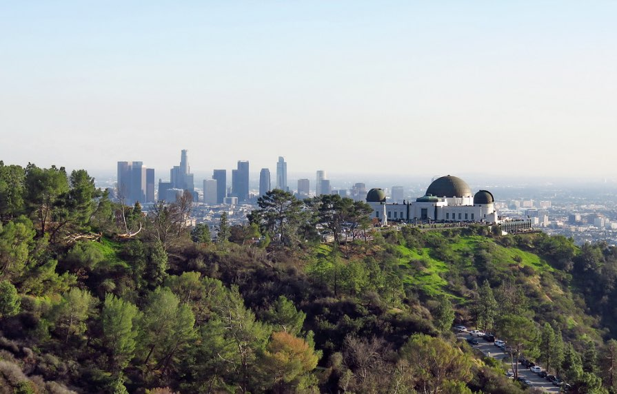 Griffith Park view from Mt. Hollywood
