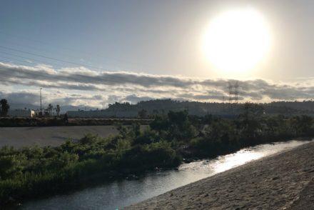 Morning sun Los Angeles River