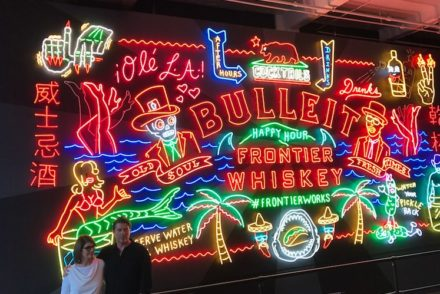 Bulleit Whiskey Neon Sign Grand Central