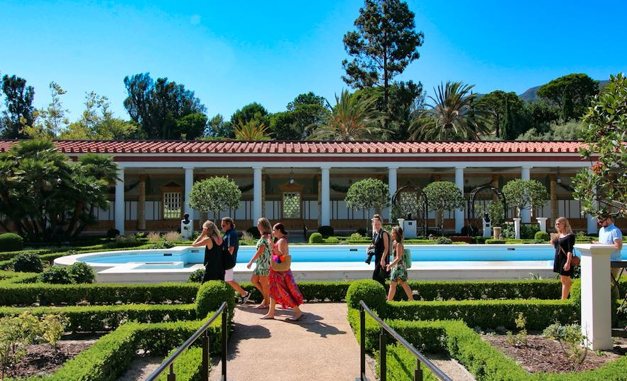Getty Villa summer walk