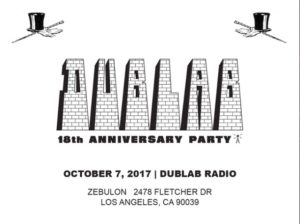 DUBLAB 18th Anniversary Party