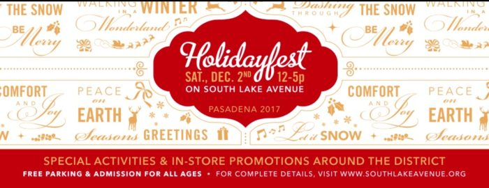South Lake Avenue Holidayfest 2017
