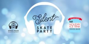 Silent Skate Party at the Bai Holiday Ice Rink in Pershing Square