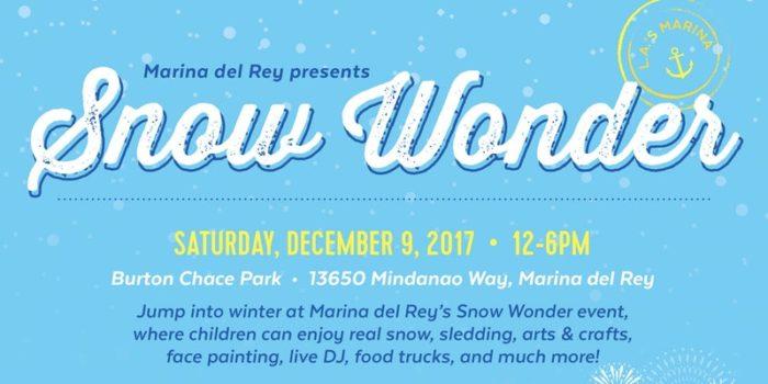 Snow Wonder & Holiday Boat Parade at Marina del Rey