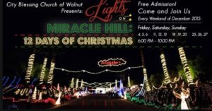 Lights on Miracle Hill A Christmas Light Show in Walnut