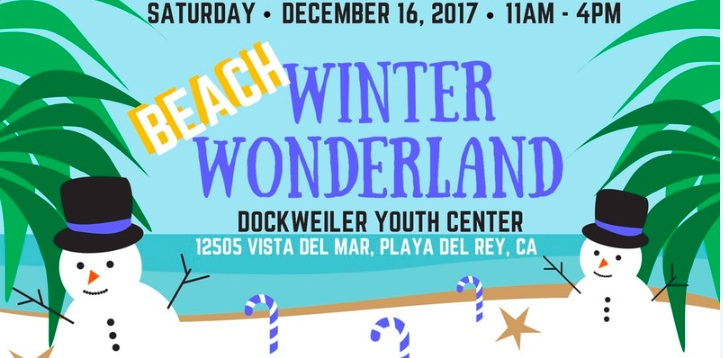 Beach Winter Wonderland at the Dockweiler Youth Center