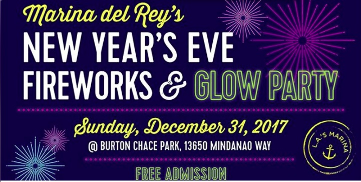 Marina del Rey New Year's Eve Fireworks & Glow Party