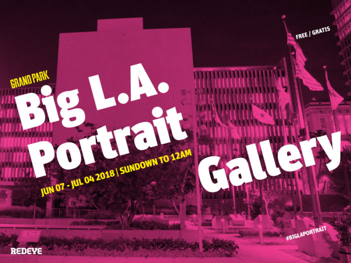 Grand Park's Big LA Portrait Gallery
