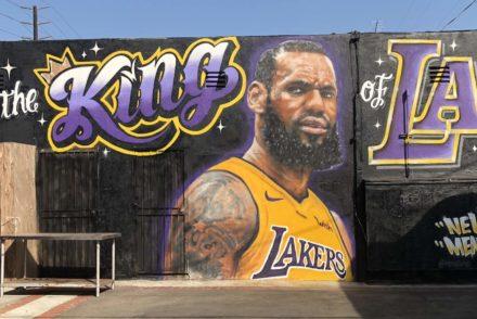 LeBron James mural Venica, CA