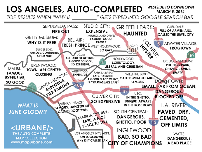 A Post With 9 Awesome Maps of Los Angeles