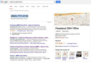 DMV Phone Number Google Search -
