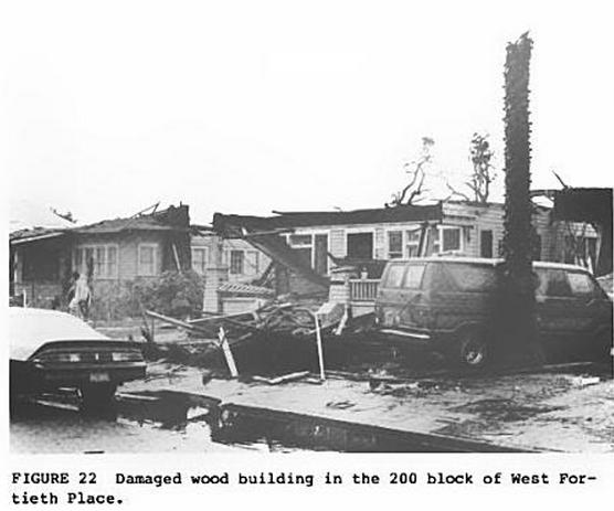 Los Angeles Building Destroyed by Tornado