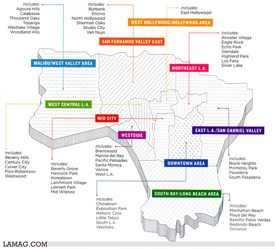 Silverlake Los Angeles Map.Los Angeles Neighbord Maps
