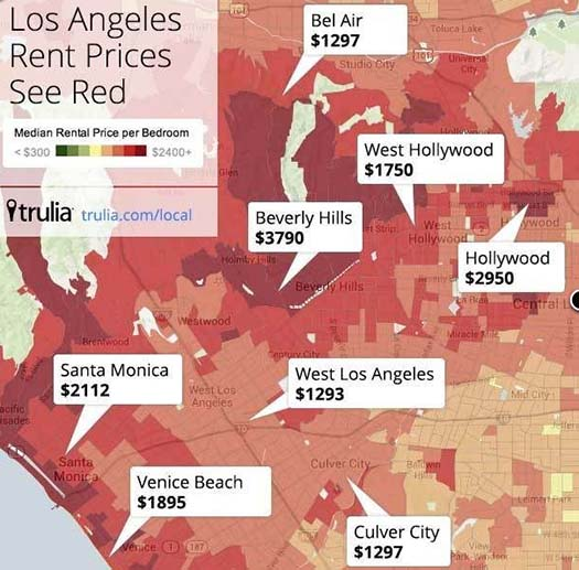 Apartment Rent Map: 10 Must Use Tools For Apartment Hunting In Los Angeles