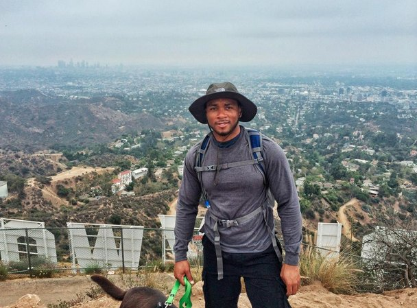 Chris at the Hollywood Sign