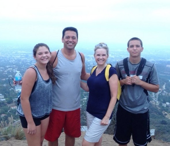 Family Photo Op at Hollywood Sign