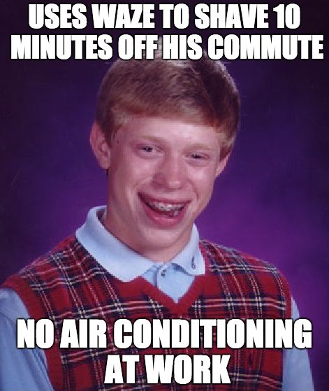Bad Luck Brian Weather Meme