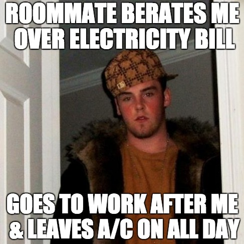 Bad Roommate Air Conditioning Meme