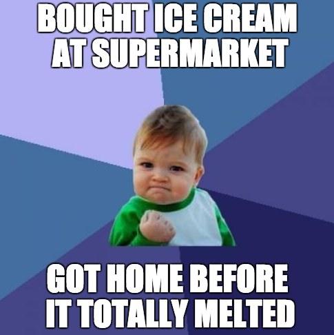 Ice Cream Weather Meme