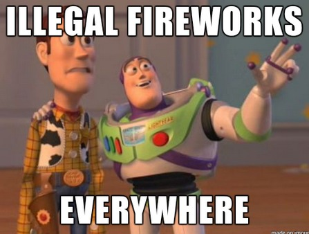 Illegal Fireworks Meme