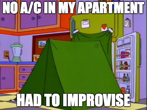 Improvise Air Conditioning Simpsons