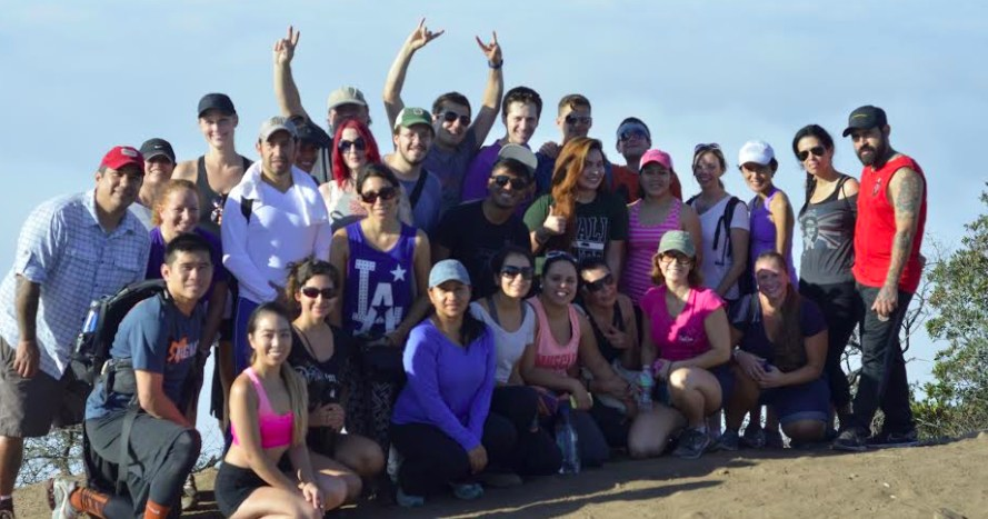 We Like L.A. Group Photo at Hollywood SIgn