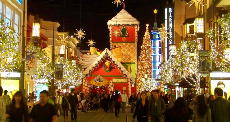 Christmas at the Grove in Los Angeles