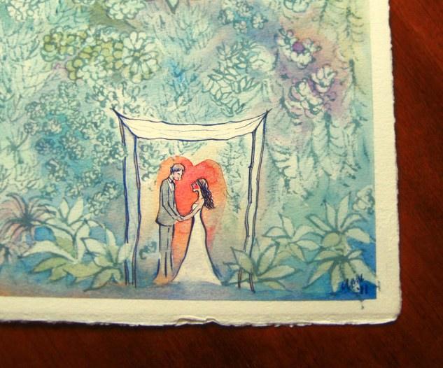 Smog Shoppe Wedding Placecard