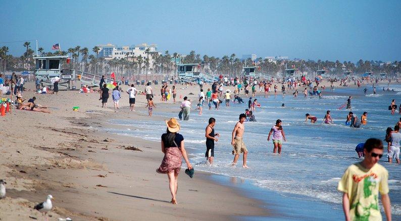A Day at the Beach in Santa Monica