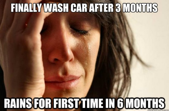 Rain Car Wash Problems