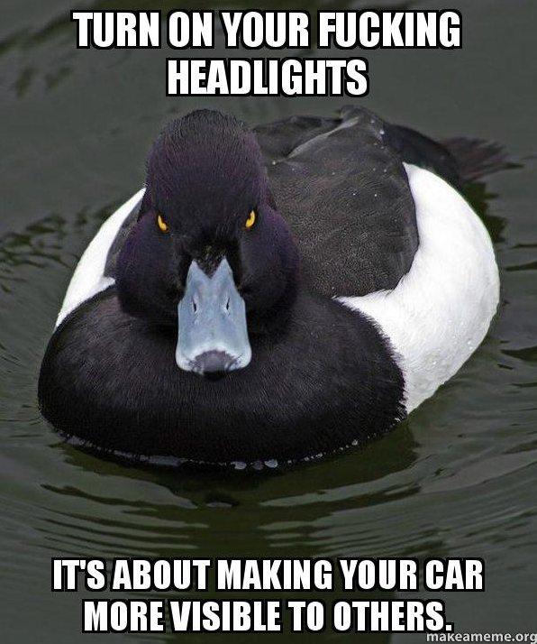 Turn on Your Headlights When It's Raining
