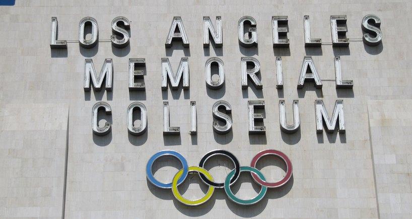 Los Angeles Coliseum Olympic Rings